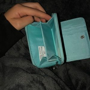 Bags - Small teal sequin wallet